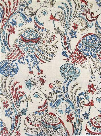 Ruwa 215 Multi John Robshaw Fabric Fabric Drapery Fabric