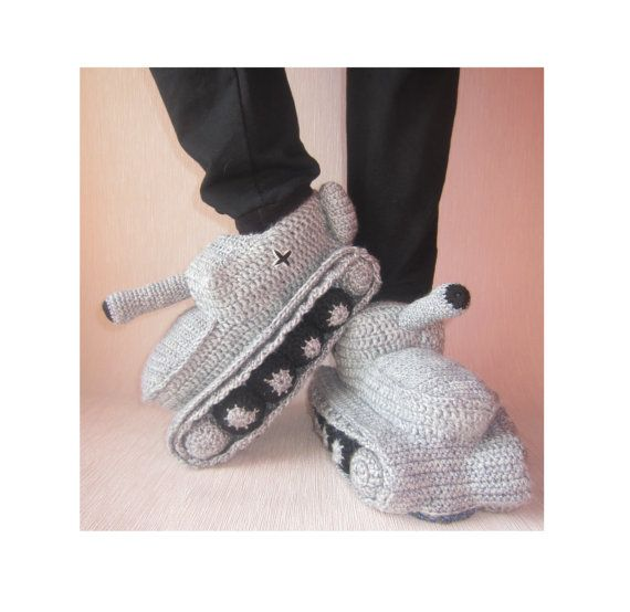 Hand Knit Slipperscrochet Tank Slippersadult Crochet This Is My