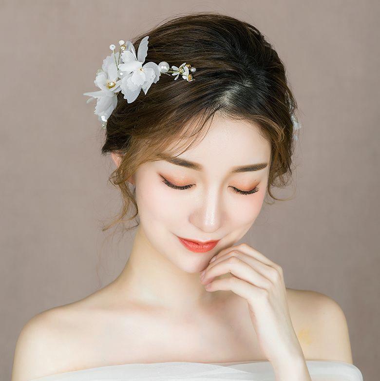 Hair Accessories Diy Wedding European Style Bridal Hairstyle For Long Hair With Veil Wedding Bridehair Co Dau Toc Phu Dau Nữ Thần