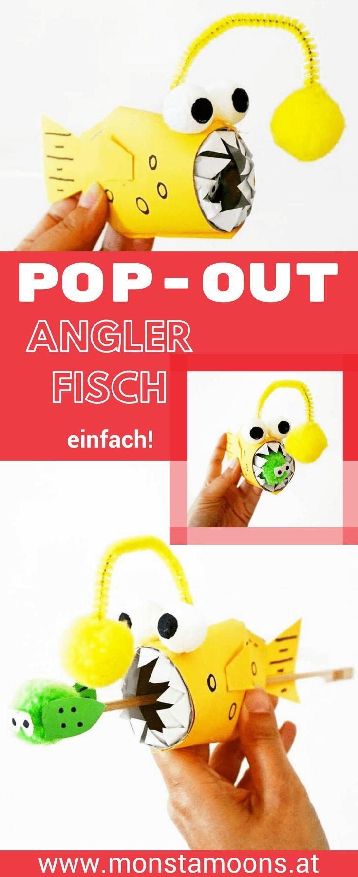 Pop-Out Anglerfisch basteln | Pinterest
