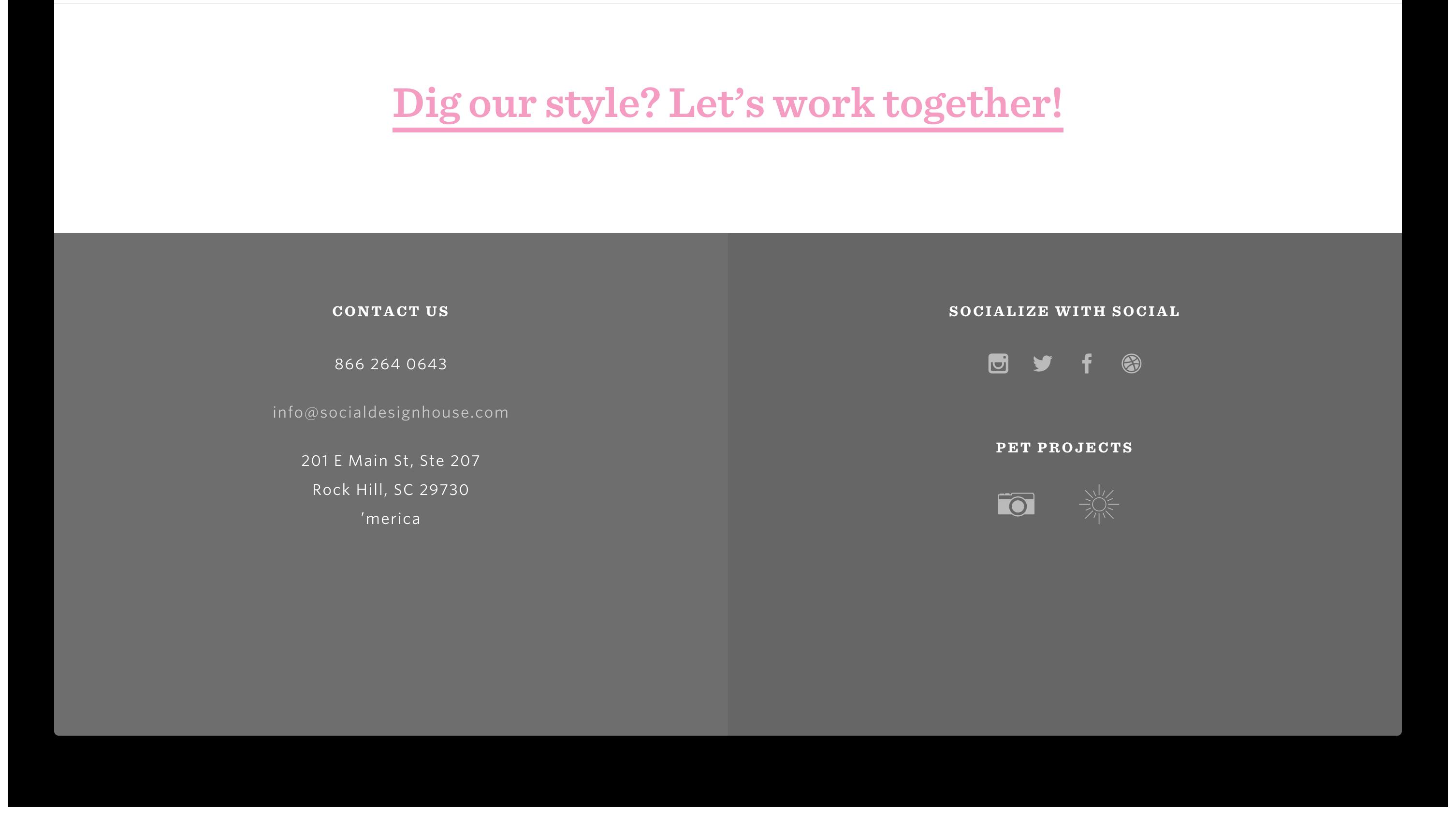 Portfolio Footer Footer Web Design Footer Design
