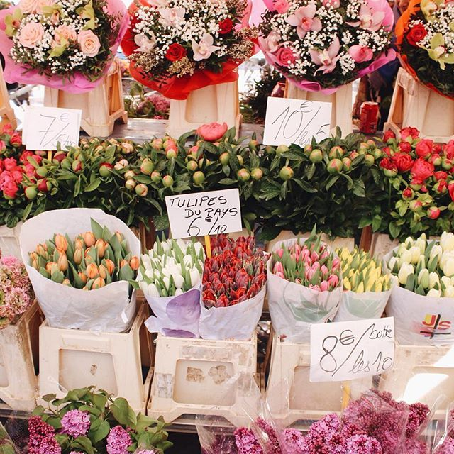 Fresh blooms at the old town markets ✨