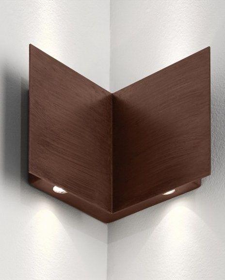 Led Wall Lamp Manine By Lucifero S Wooden Corner Spotlight Faretti Angolari Led A Muro In Legno Spotlight Lamp Design Led Wall Lamp Wall Lamp