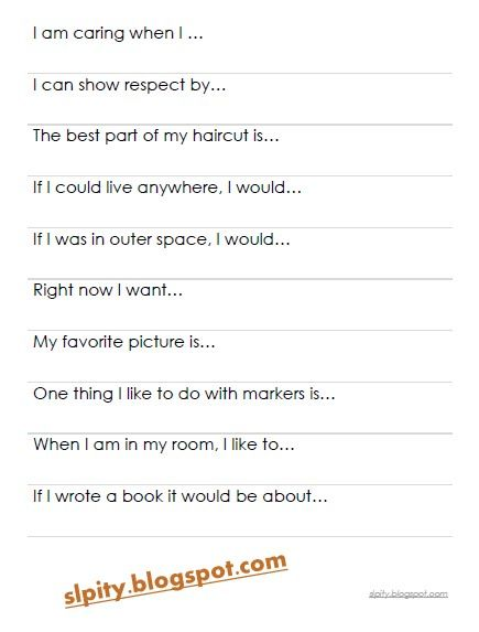 sentence starter strips   download  free   u0026 laminate  great for speedy speech sessions