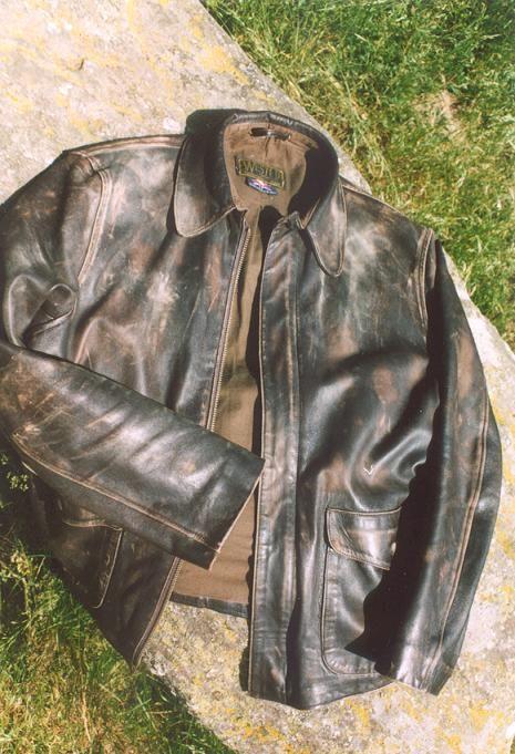 38a372267af Distressed Wested Raiders Jacket