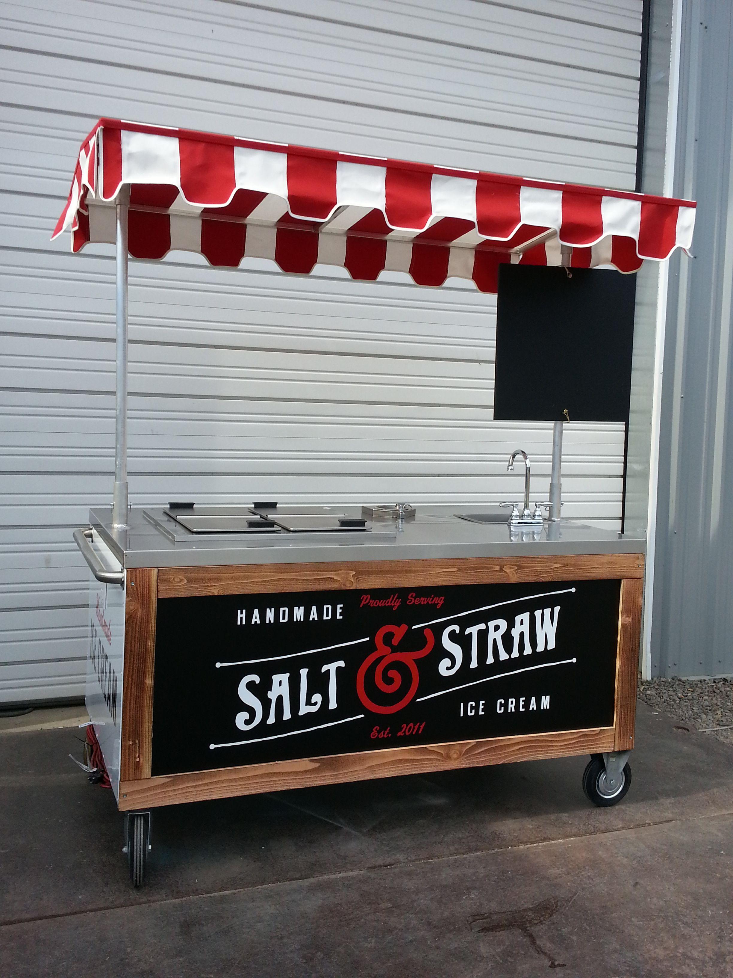 Custom Ice Cream Cart … | family business | Pinte…