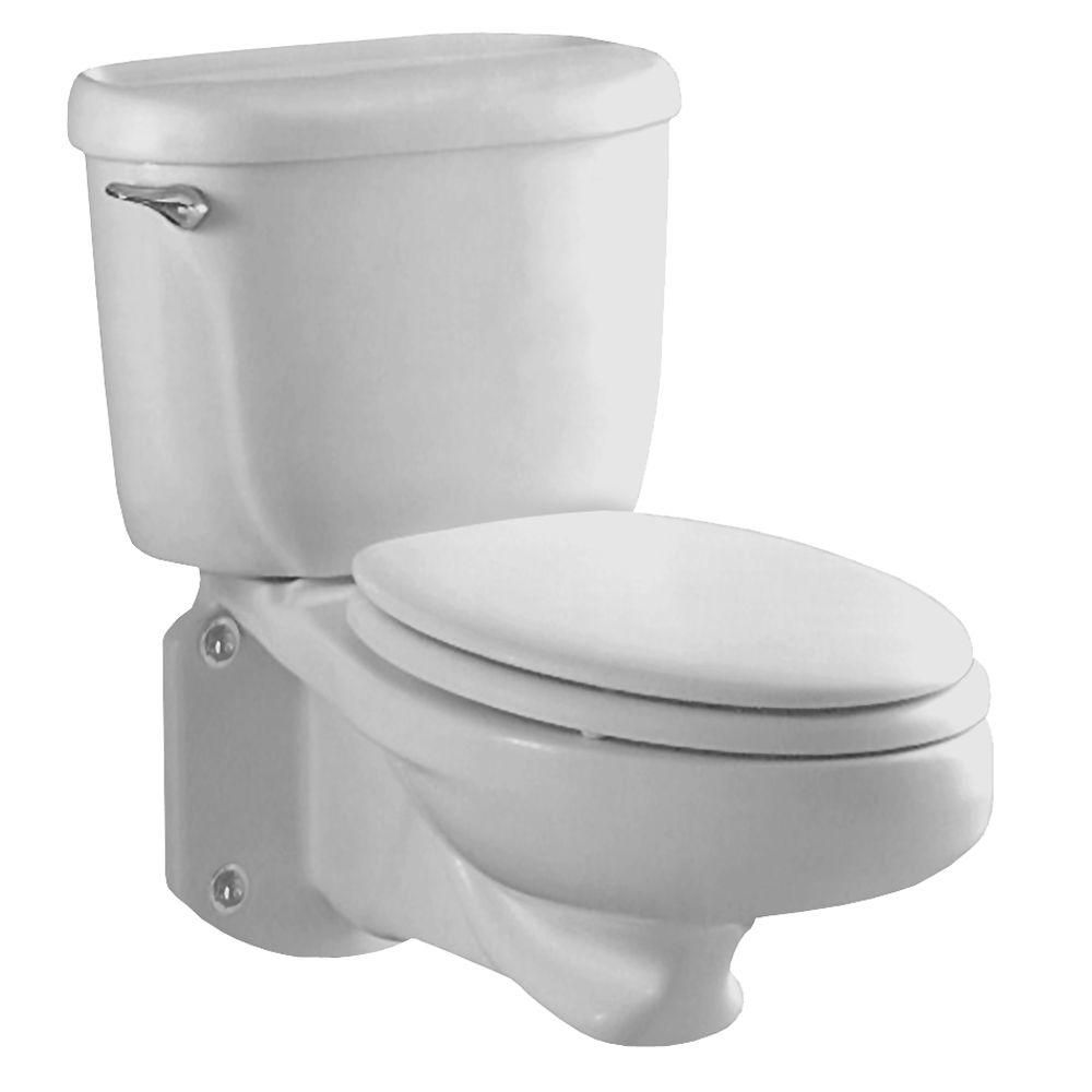 American Standard Glenwall Pressure Assisted Wall Mounted 2 Piece 1 6 Gpf Single Flush Elongated Toilet In White Seat Not Included 2093 100 020 Wall Mounted Toilet Wall Hung Toilet Commercial Toilet