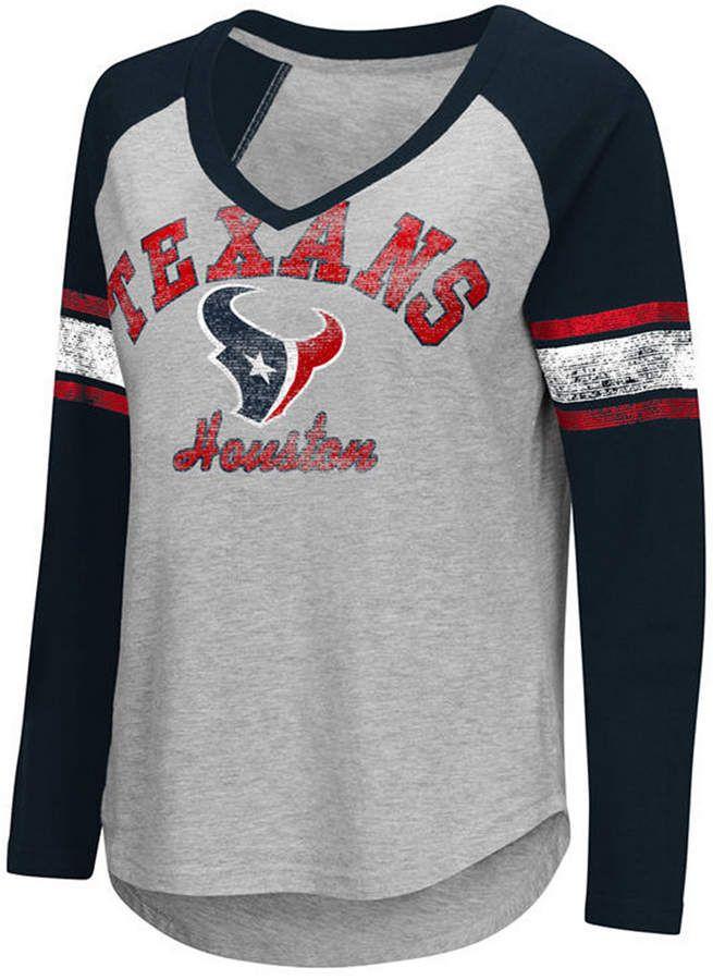 feec8bb2 G-iii Sports Women Houston Texans Sideline Long Sleeve T-Shirt ...