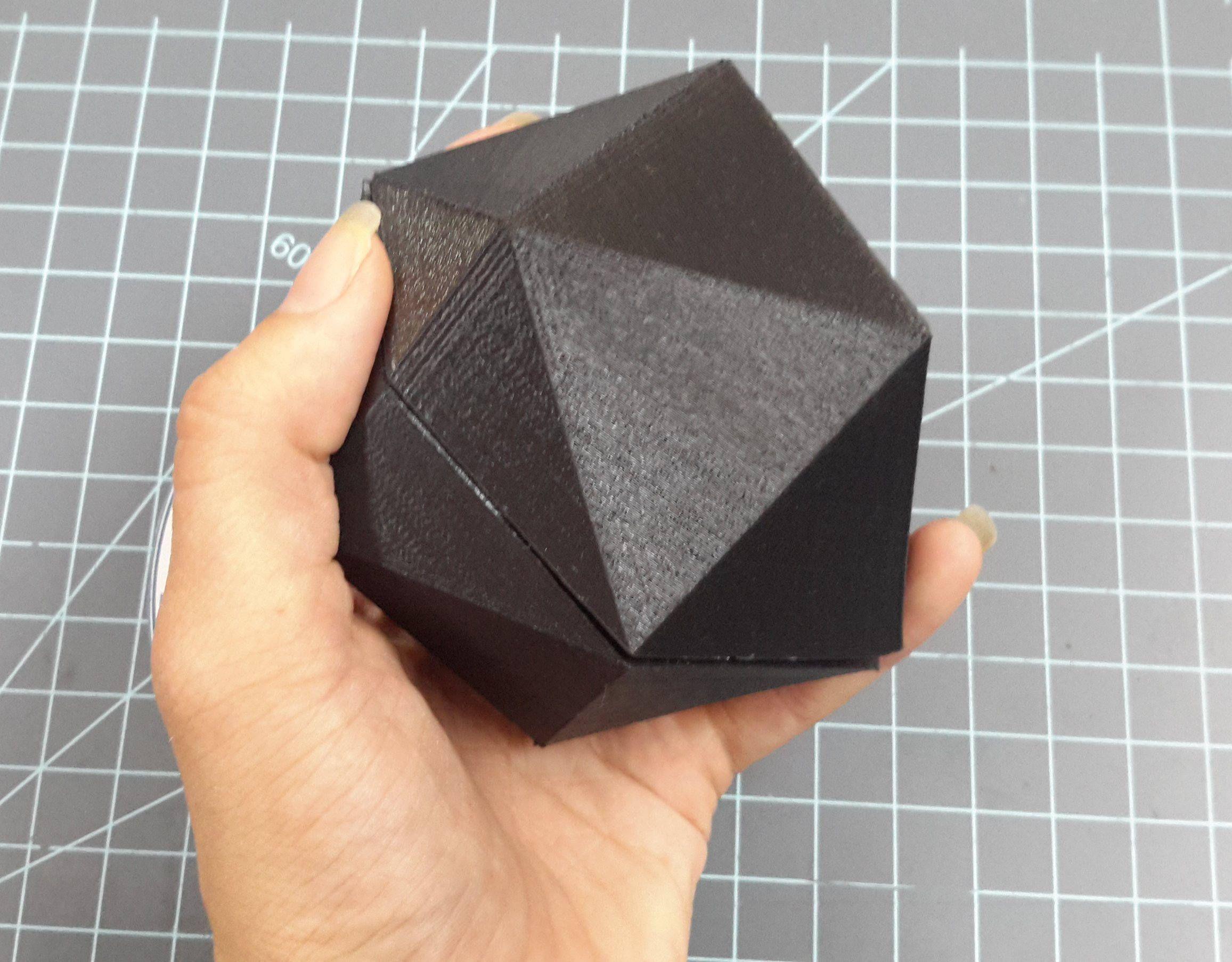 Icosahedron Plastic Mold Dice Mold Bath Bomb Mold Soap Mold 2