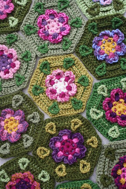 free pattern on Ravelry: Pied Beauty Hexagon pattern by Megan ...