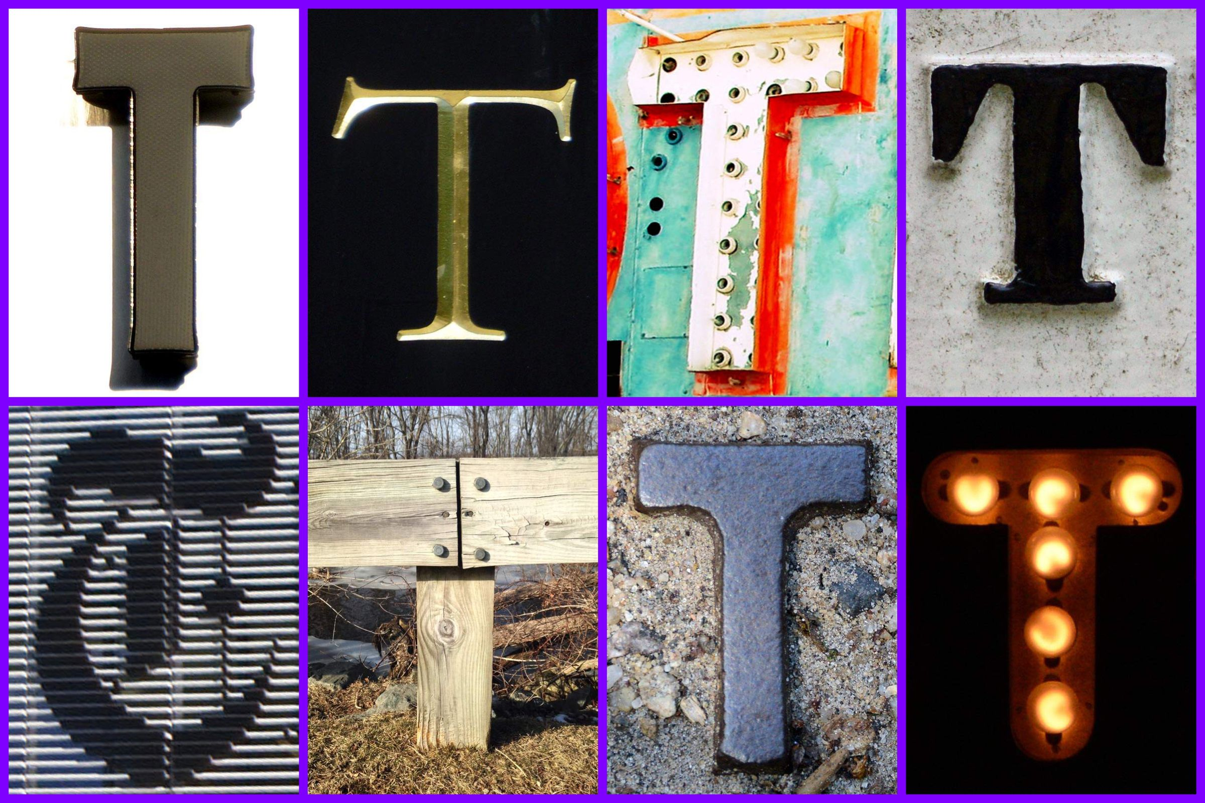 the letter T Created with Alphabet Art for iOS