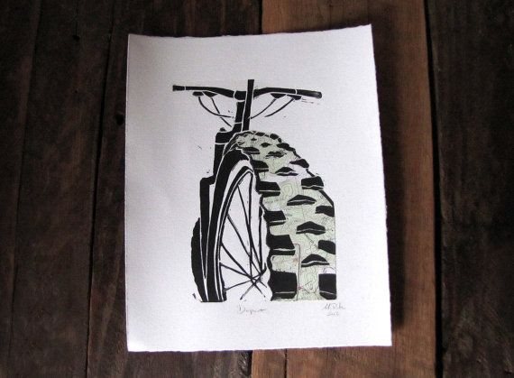 Featuring My Mountain Biking Print Design That Is Merged With A