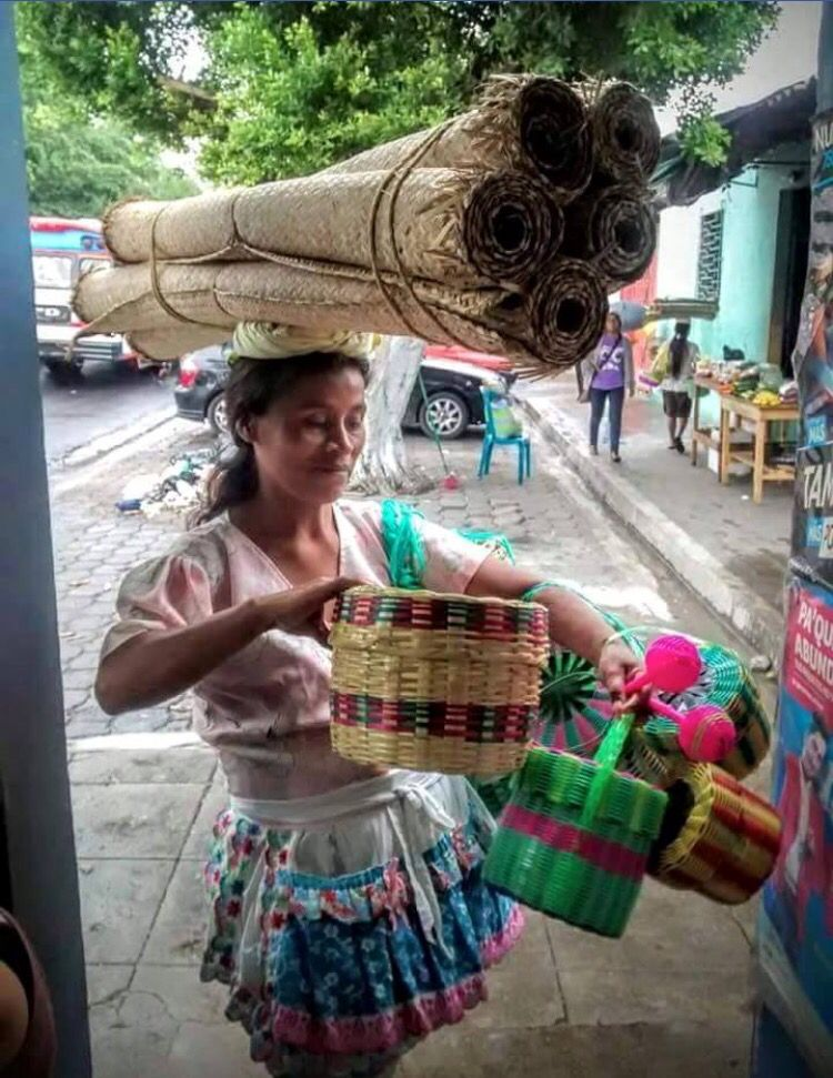 Vendedora Salvadoreña / vendedora de petates  | El Salvador
