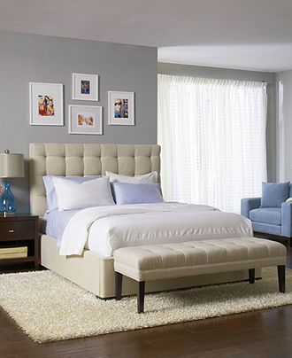 Abby Upholstered Bedroom Furniture Collection, Created for Macy\'s ...