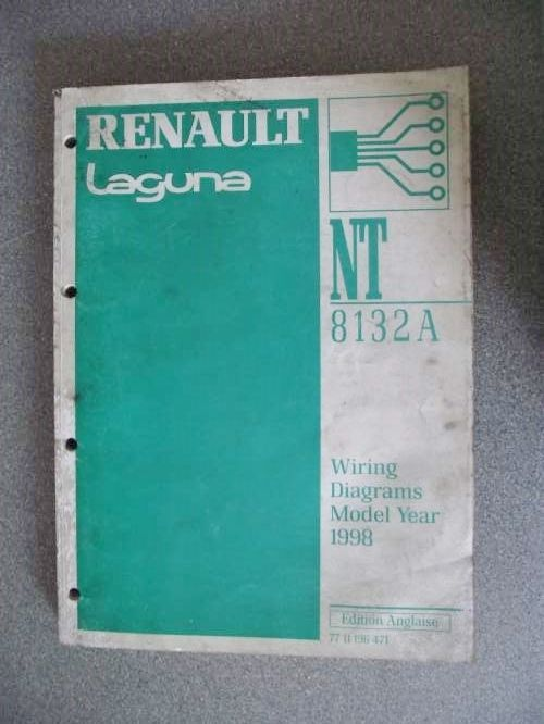 Renault Laguna Wiring Diagrams Manual 1998 Model Year