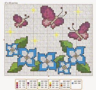 Gráfico+ponto+cruz+borboletas.jpg (320×298)