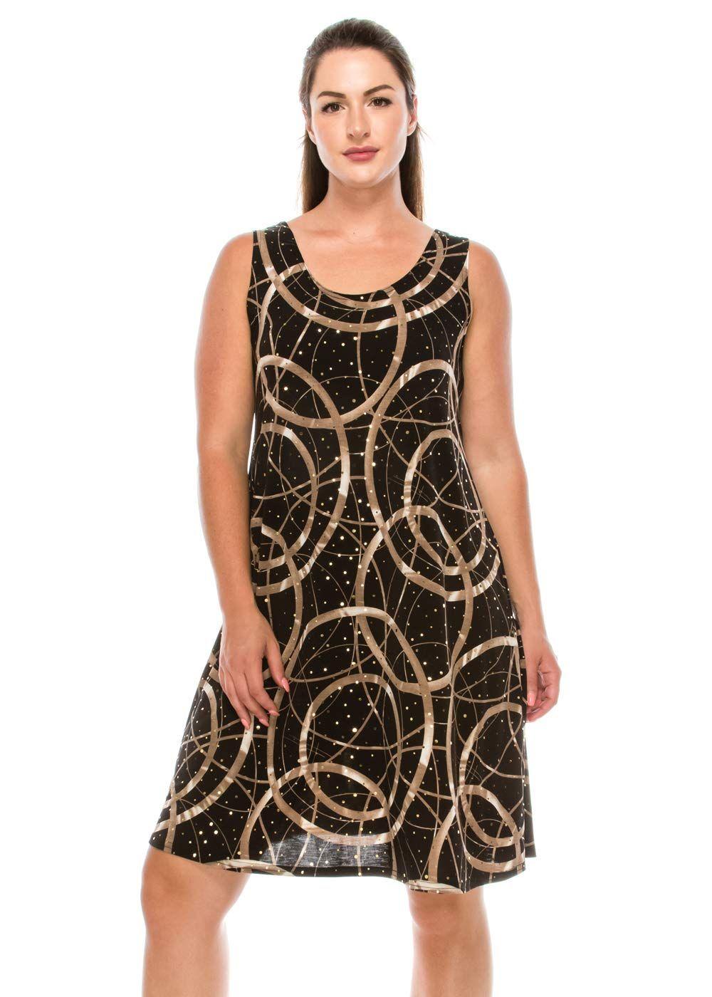 Jostar womens glitter missy tank dress sleeveless glitter