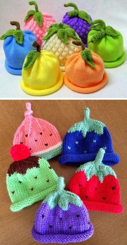 Photo of Caps for Babies – Free Knitting Pattern
