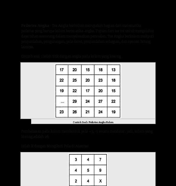 Pin Oleh Psikotes Untuk Kamu Di Yang Saya Simpan Psikologi Matematika Buku