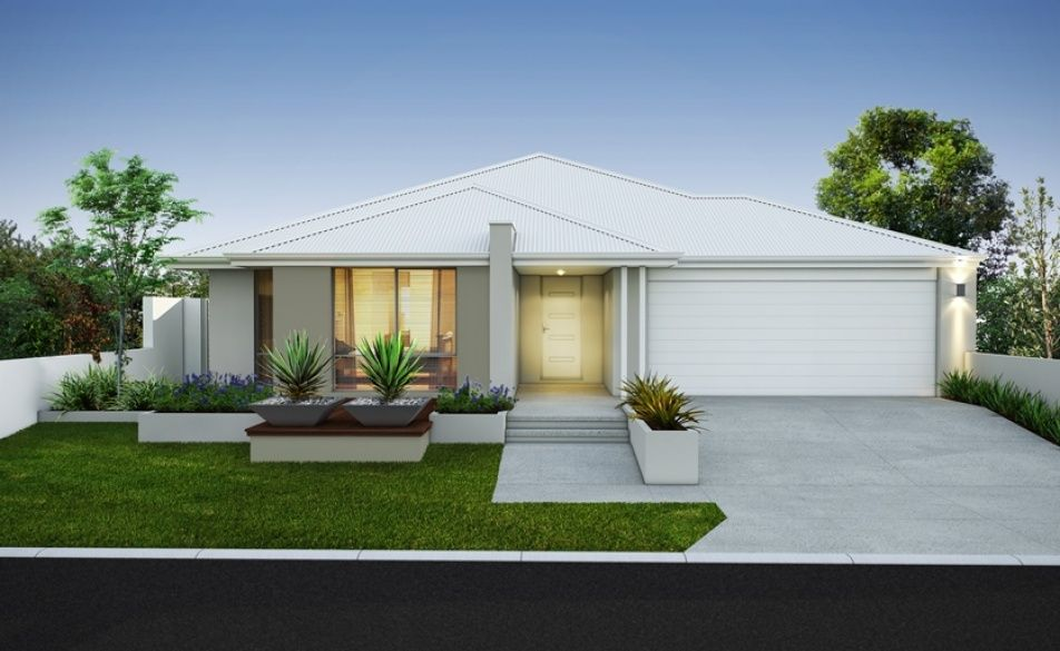 Modern Elevation With Striking Rendered Facade Feature