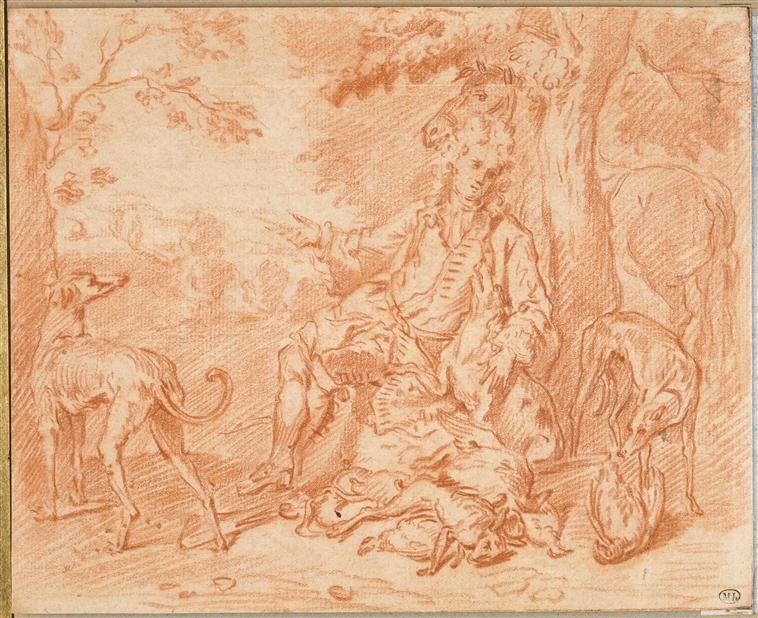 François Desportes (1661-1743) | Portrait de Desportes en chasseur