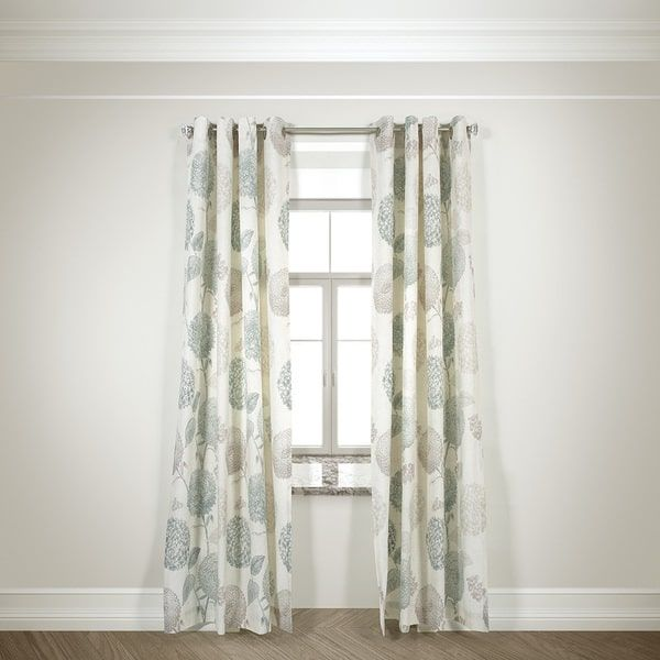 Lr Home Harlequin Duck Egg 108 Inch Grommet Top Curtain Panel Pair
