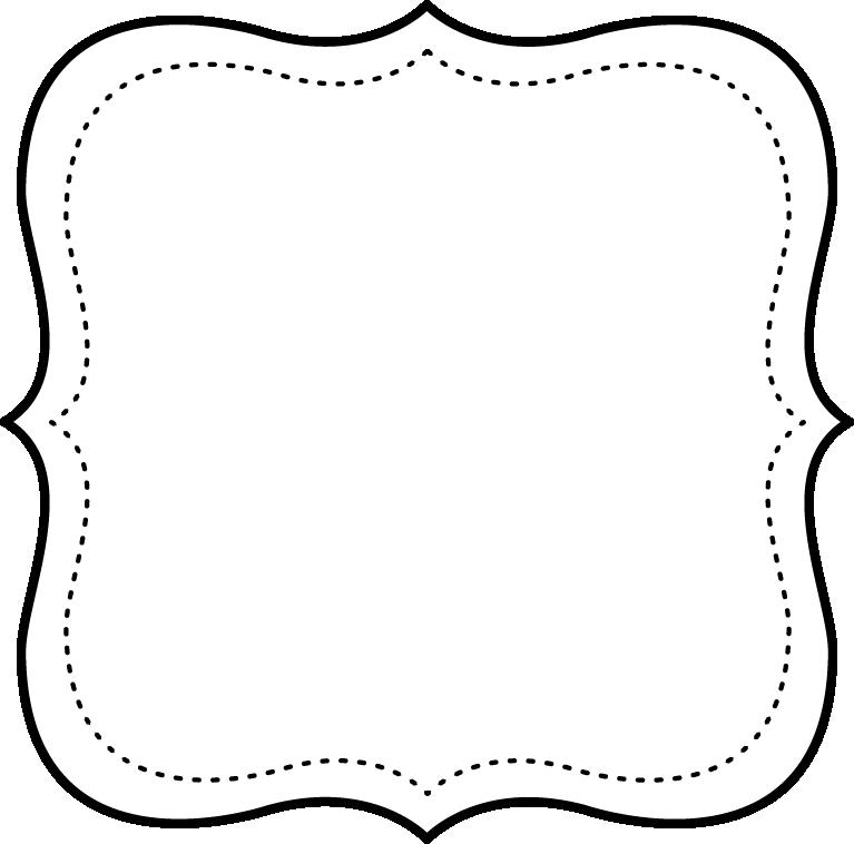 Marcos en Blanco y Negro para Imprimir Gratis. | Patrones de letras ...
