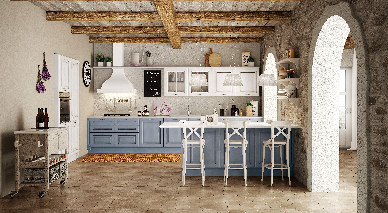 Berloni Cucina Athena Acqua + Bianco ZInco | CUCINE | Pinterest