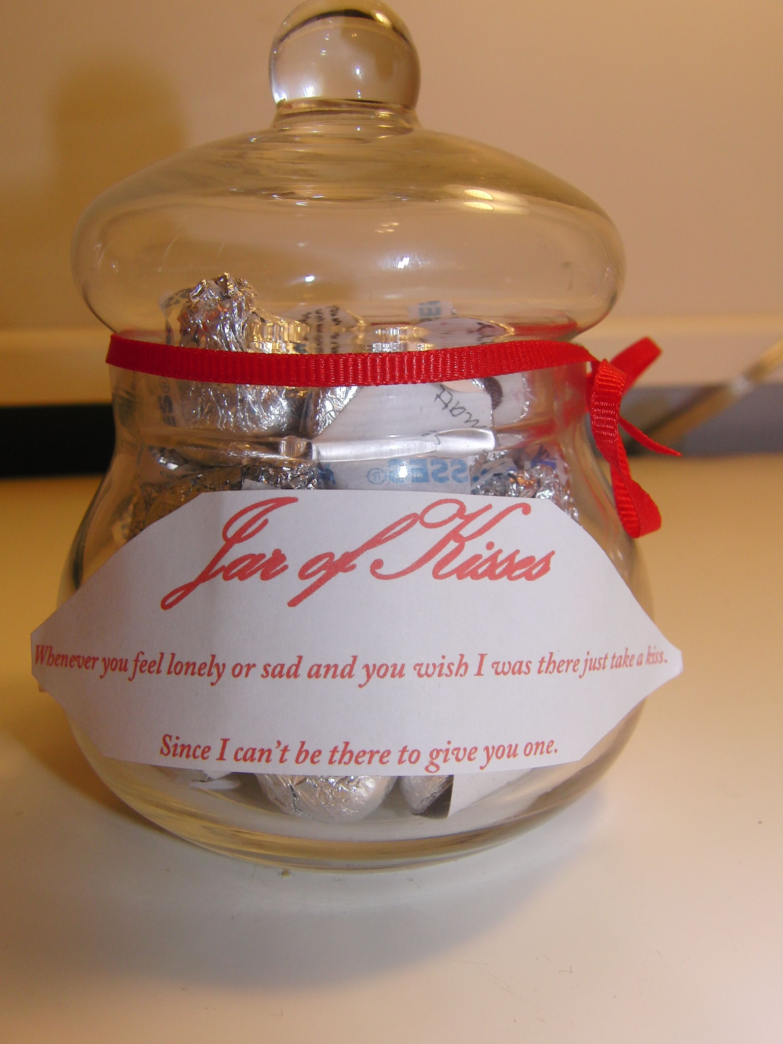 Great for a long distance relationship! A Jar of kisses. I ...