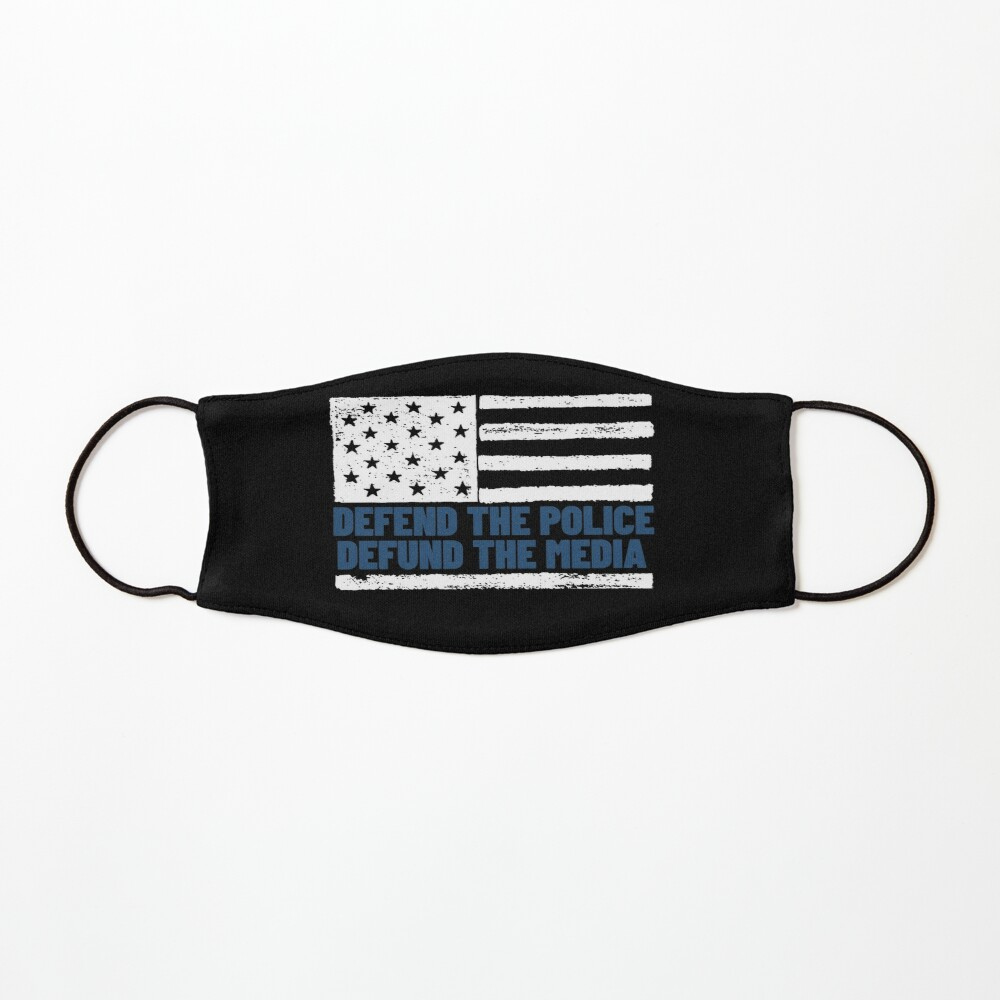 Defend The Police Defund The Media American Flag Usa Kids Mask By Praewapy Mask For Kids American Flag Police