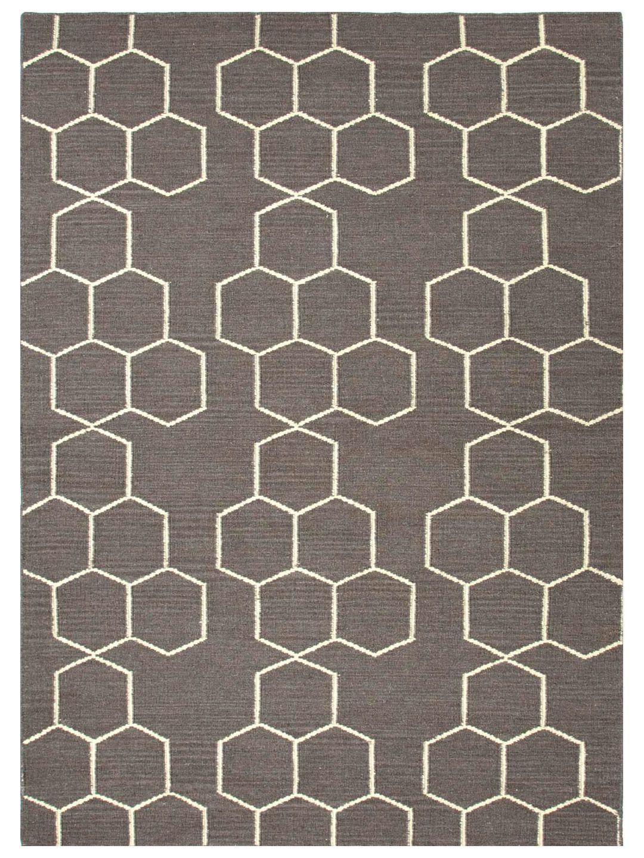 Geometric Pattern Flatweave Gilt Home Graphic Wool