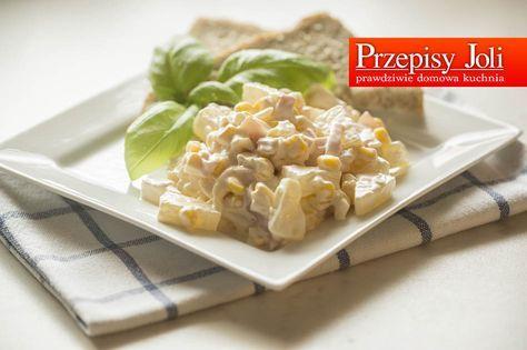 SAŁATKA Z SZYNKĄ I ANANASEM - idealne połączenie wytrawnego smaku szynki i słodyczy ananasa. Sprawdzony, przepis idealny na spotkania przy stole i grilla.