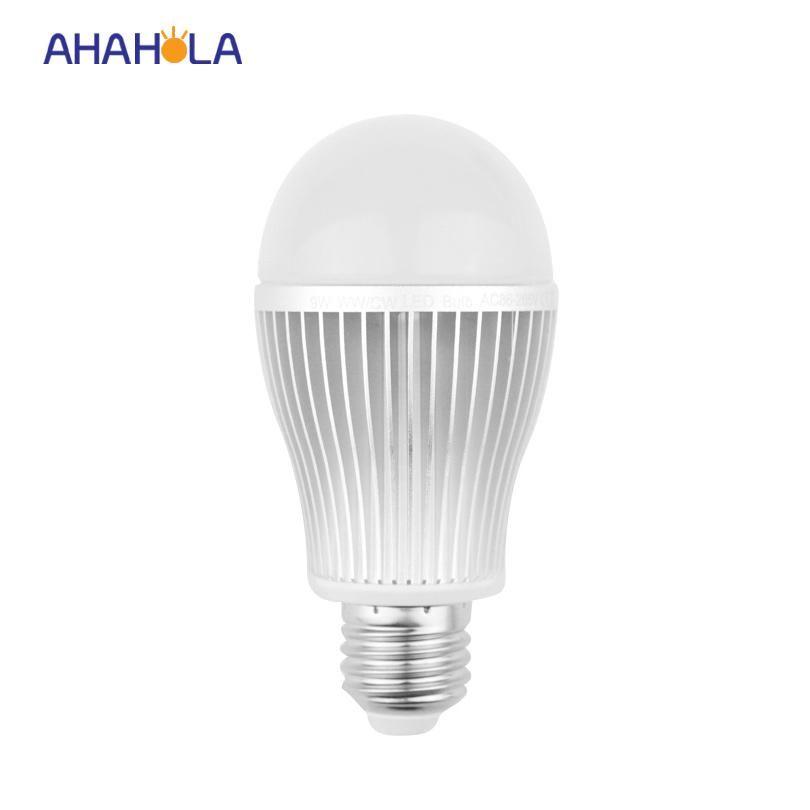 milight 9w e27 led bulb 110v 220v mi-light rgbw dual color light ...