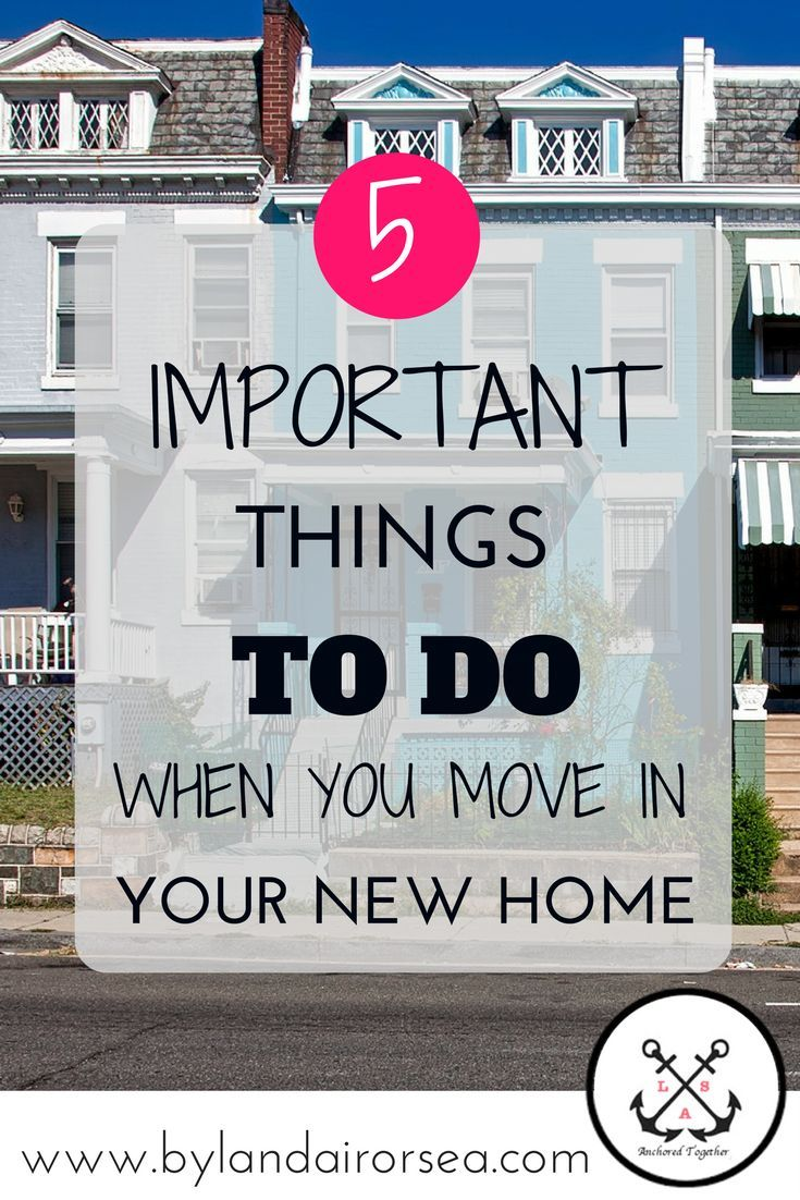 What to Change in Your New Home Immediately By Land, Air