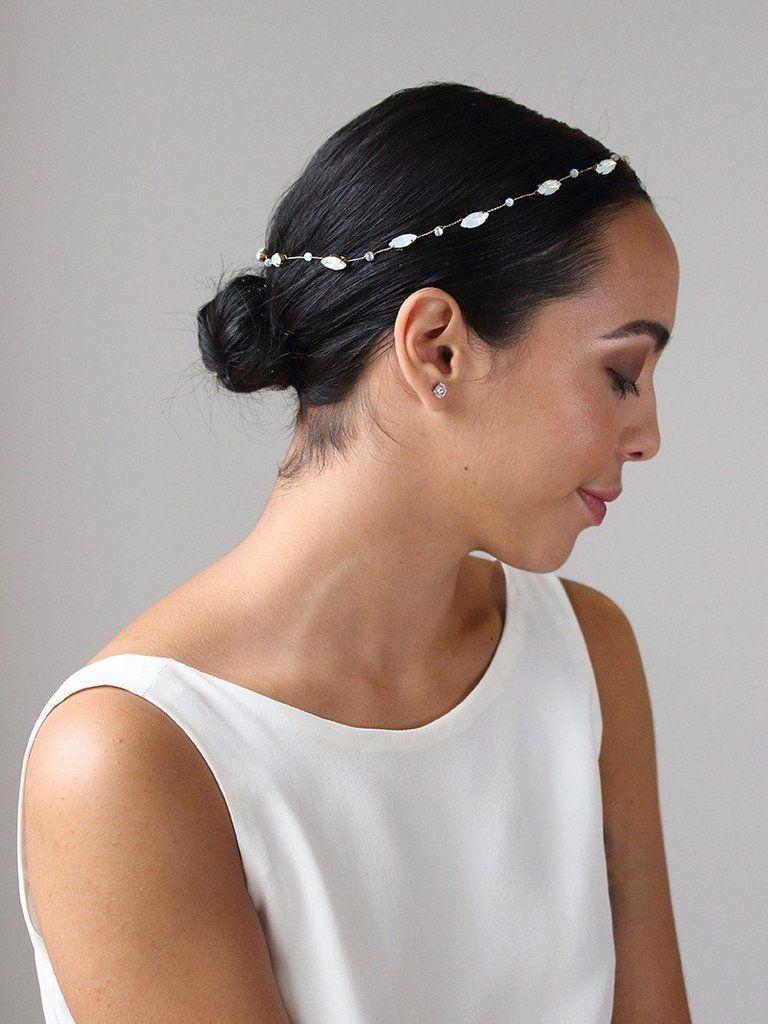 Haarreif gewickelt in Glitzerband mit Kristall Look Haarschmuck Hair