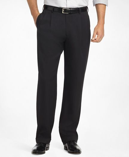 c877fffc41ba Classic cuts Pants in timeless, simple colors Madison Fit Pleat-Front  Classic Gabardine Trousers