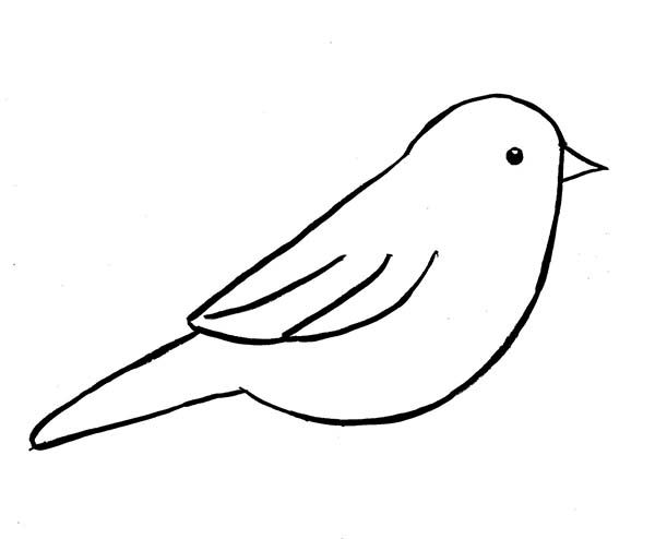 Image Result For Simple Bird Outline Bird Outline Bird Template Simple Bird Drawing