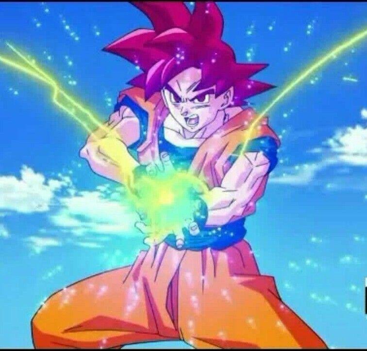 Goku Super Saiyayin Dios Hace El Kame Hame Ha Pintura Del Espacio Kame Hame Ha Dragones
