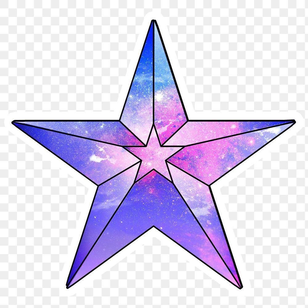 Purple Galaxy Patterned Geometrical Shaped Star Sticker Design Element Free Image By Rawpixel Com Chayanit Galaxy Pattern Geometric Sticker Design