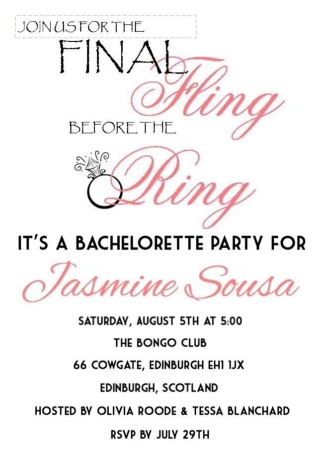 Bachelorette Party J T Everyone Invited Party