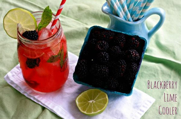 Blackberry Lime Cooler - Spoon and Saucer