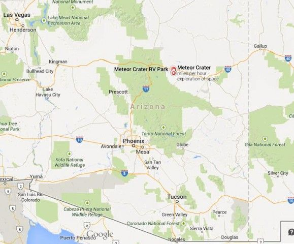 Meteor Crater Arizona Map.Meteor Crater Arizona Map Where Is Meteor Crater On Map Of Arizona