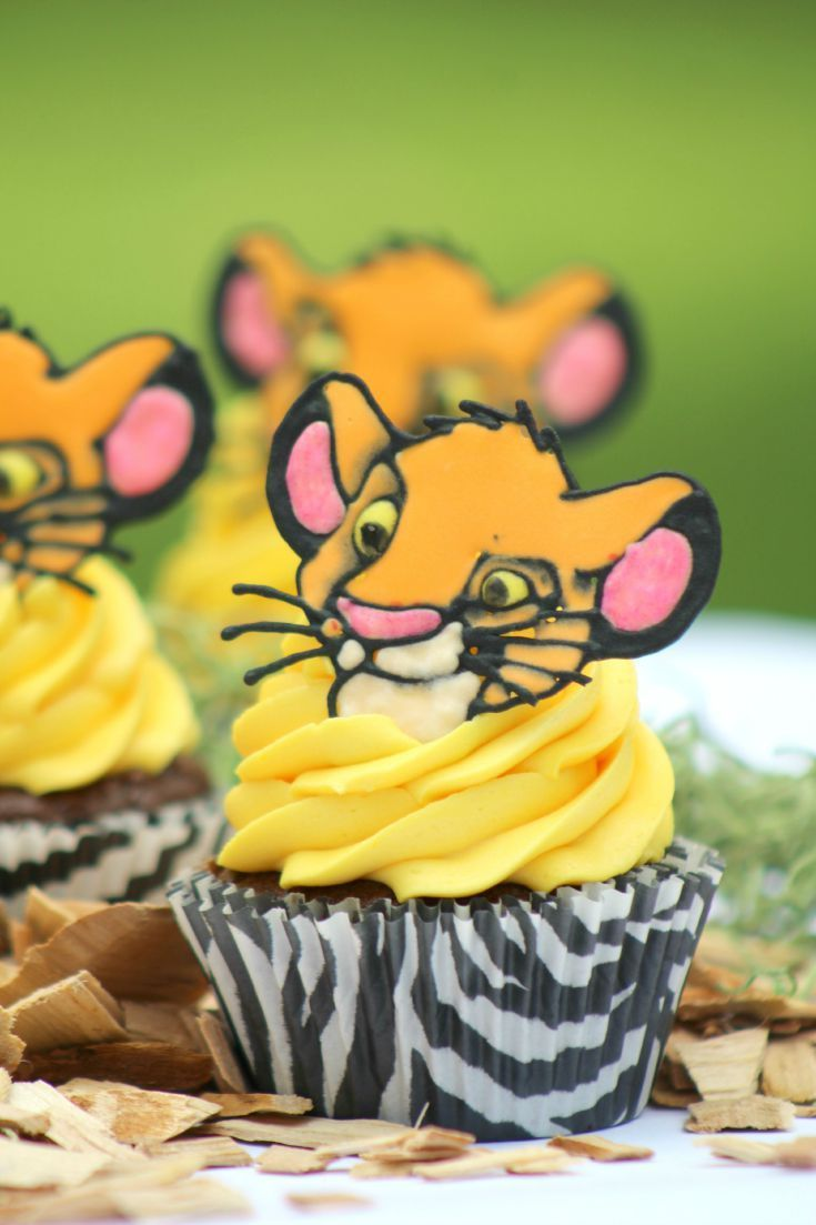 lion king simba cupcakes