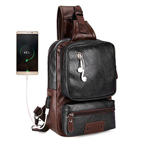 d0c497a968ef VICUNA POLO Men Sling Backpack External USB Charge Men Crossbody Bag Large  Capacity Casual Travel Man Bag