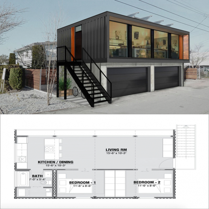 2 schlafzimmer 1 bad container haus pl ne von honomobo architecture container container. Black Bedroom Furniture Sets. Home Design Ideas