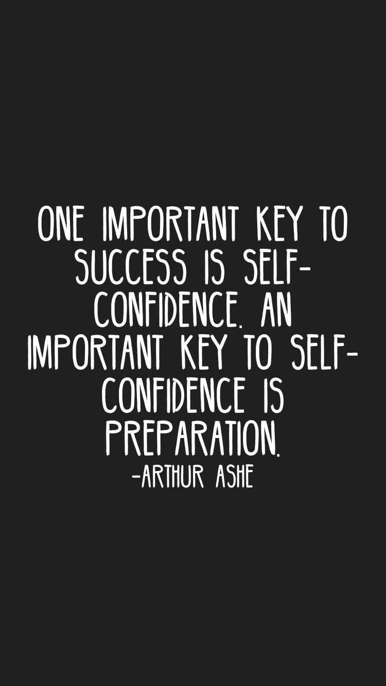 self confidence is the key to success