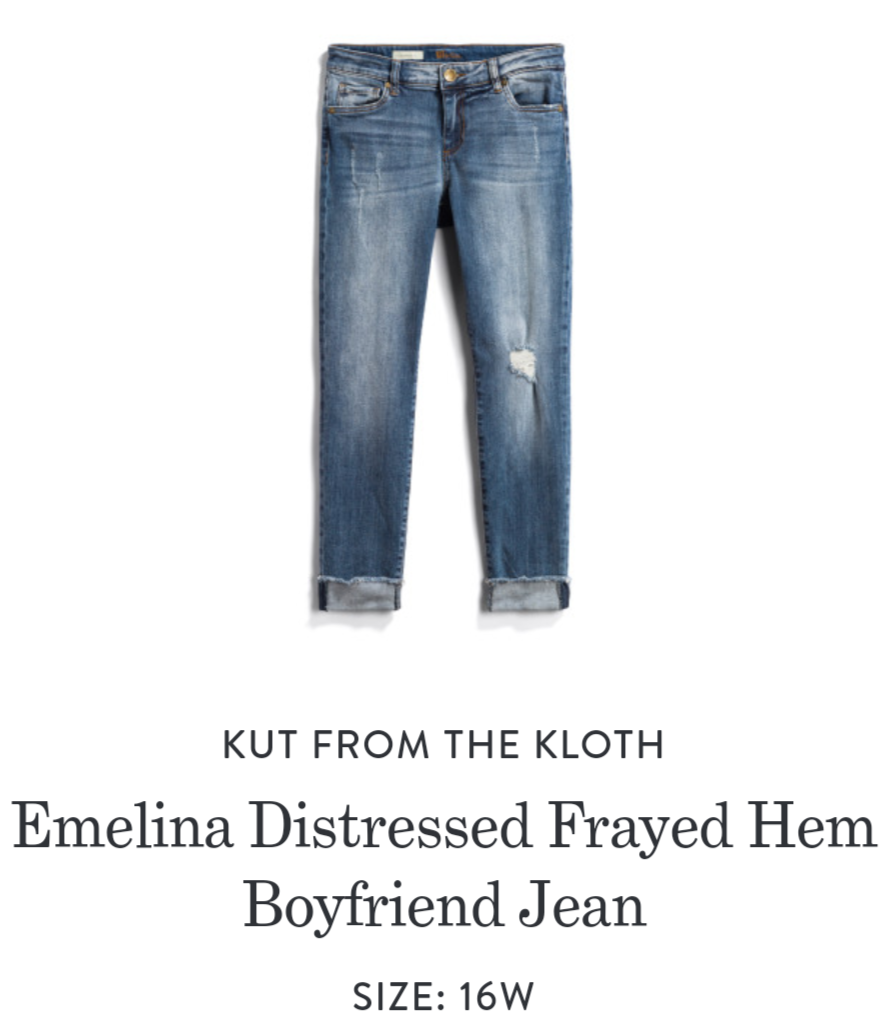 So Excited To Get In These Kut From The Kloth Emelina Distressed Frayed Hem Boyfriend Jeans Stitch Fix Plus Si Fix Clothing Stitch Fix Outfits Boyfriend Jeans