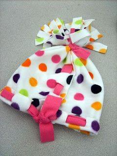 80284371397 no sew fleece hat. hadn t seen this version yet