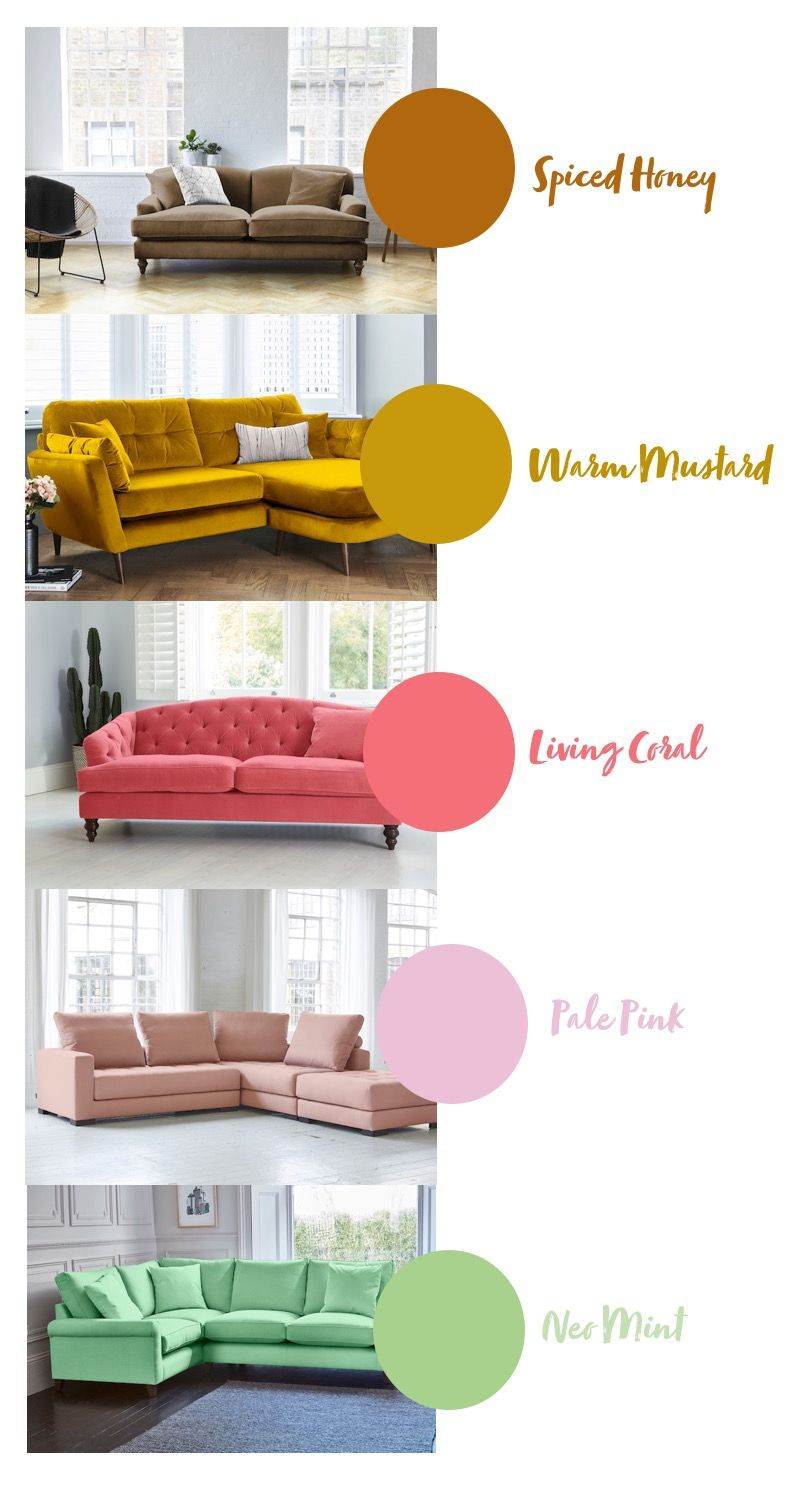 2019 Interior Colour Trends Sofa Match Colorful Interiors Trending Decor Sofa Colors