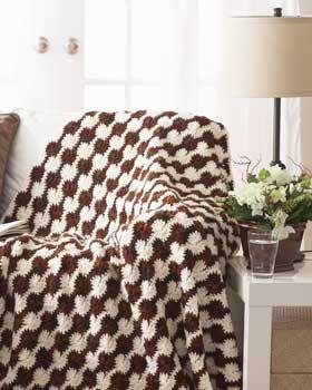 Graphic circles afghan: crochet pattern